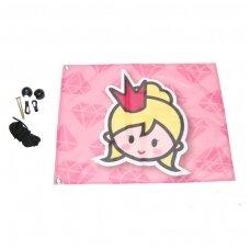 Pakabinama princesių vėliava