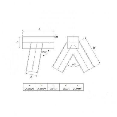 Sūpynių kampas kvadratinis (Palinkęs) 2